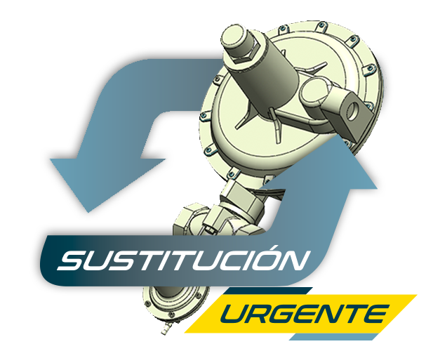 sustitución reguladores de gas natural