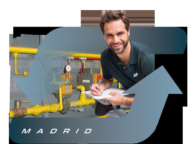 Inspección obligatoria de gas natural en Madrid