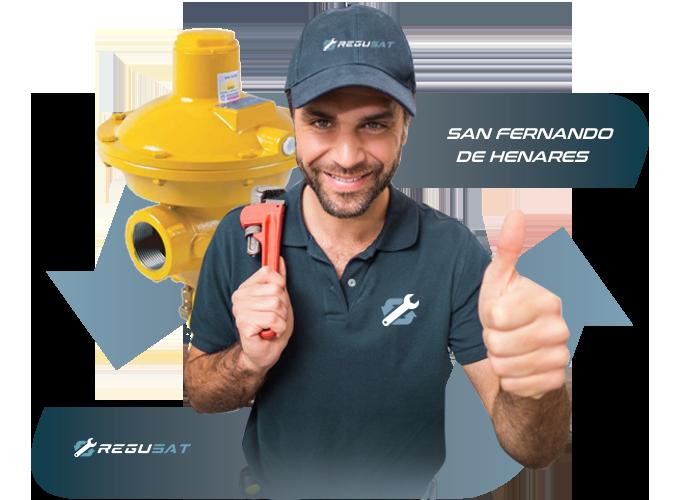 sustitución de regulador de gas natural en San Fernando de Henares